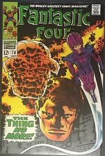 MARVEL COMICS FANTASTIC FOUR #78 THING NO MORE NM SILVER AGE COMIC SEPT 1968
