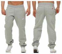 Nike Men's Fleece Joggers Tracksuit Bottoms Track Jogging Sweat Pant Grey