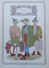 STEIERMARK LEOBEN 1937 Alpenländer alter Druck Tracht print national costume