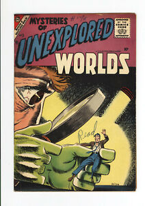 MYSTERIES OF UNEXPLORED WORLDS #3 VG/FN  ALL DITKO COVER & ART - RARE ISSUE 1957