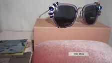 MIU MIU Sunglasses Authentic New Violet Grey MU03SS U691A1 51 140