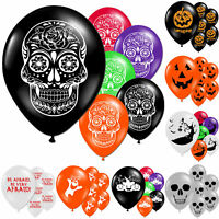 "Halloween Horror Haunted Children's Party Printed 11"" Latex Balloons Decorations"