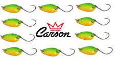 10 ondulanti 3g tiger trout area game spoon pesca trota lago fiume spinning