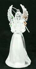 """Angel Ornament 4.5"""" Silver Wing Clear White Light Up Stocking Stuffer Gift"""
