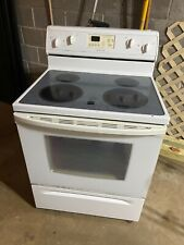 White Whirlpool Electric Self-cleaning Oven with Accubake System