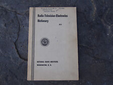 Vintage 1954 Radio-Television-Electronic Dictionary IX3 National Radio Institute