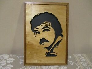 Wooden Laser Sign with Bert Reynolds, Wall Decor (2pcs)
