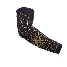 1PC Sport Cool Arm Sleeve Skin Protection Cover Spider Net Team Elastic Armband