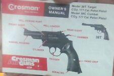 Crosman Model 38T and 38C .177 cal. Co2 Pistols Owners Manual