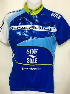 Voler Womens S Blue Bike Cycling Jersey Blue Energice Sof Sole Active Elite