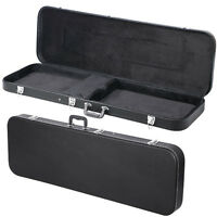 Universal Electric Bass Guitar Hard-Shell Case w/ Full Neck Support