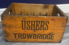 More details for vintage ushers trowbridge 24x bottle wooden crate