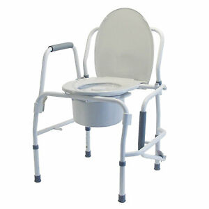 Lumex 3 in 1 Bedside Commode, Raised Toilet Seat, Safety Rail, 300 lb. Capacity