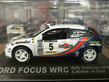 1:43 FORD FOCUS WRC RALLY CATALUNYA 2000 COLIN MCRAE NICKY GRIST #5 DEAGOSTINI