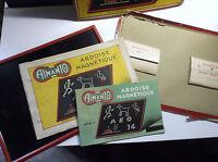 RARE ancien jeu ardoise magnetique avec carnet et barrettes