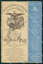 Militari XIX Reggimento Cavalleggeri Guide Anniversario Custoza cartolina XF2547