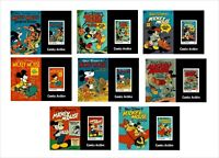 2020 MICKEY MOUSE PART1 DISNEY 16 SOUVENIR SHEETS unperforated animation COMICS