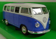 Nex models 1/24 Scale 1963 VW T1 Classic bus Splitscreen blue Diecast model car