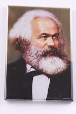 "Communist Framer Karl Marx Portrait Painting Magnet 2x3"" Art Made in USA"