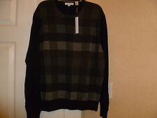 NWT ALEX CANNON 100% cotton long sleeve crewneck sweater in black size XL.