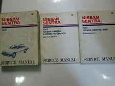 1987 Nissan Sentra Service Repair Shop Manual SET Factory OEM Books USED 87