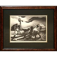 """""""Photographing the Bull"""" by Thomas H. Benton Lithograph 1950 LE of 500 Signed #d"""