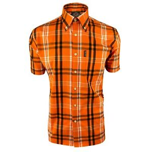 Trojan Records Jamaica Check Shirt With Pocket Square Orange