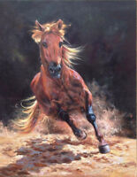 CHENPAT412 animal strong runing horse art hand-painted oil painting on canvas