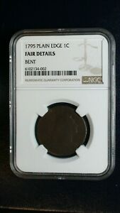 1795 PLAIN EDGE Large Cent NGC FAIR Details 1C Penny Coin PRICED TO SELL!