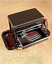 Mechanics Rolling Work Seat Bench with Built-In Toolbox Creepers Garage Car Shop