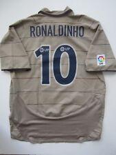 Nike 03-05 Barcelona Ronaldinho Away Soccer Jersey Tan Messi Brasil Ronaldo XL
