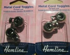 3 x Packs of 2 Cord Toggles - Choose from Metal / Plastic & Colour