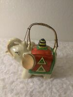 Vintage Lusterware Hand Painted Lucky Elephant Coffee/Teapot W/Lid