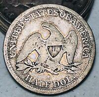 1846 O Seated Liberty Half Dollar 50C Ungraded CHOICE 90% Silver US Coin CC6958