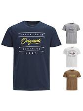 Jack & Jones Herren T-Shirt JorStationary Regular kurzarm Rundhals Logo-Print