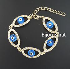 Nazar Evil Eye Auge Strass Armband Türkisches Magisches Auge Böser Blick 24 KGP