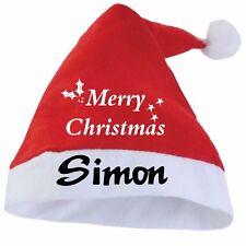 Personalised Santa Hat, Adult Christmas Hat, Felt with Pom Pom, Free p+p