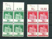 Bizone - Michel-Nr. 101-102 Oberrand - Viererblock  ** postfrisch