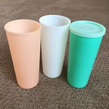 New ListingLot of 3 Vintage Tupperware Pastel Jadeite Cups Tumblers 115 12 Oz Plastic