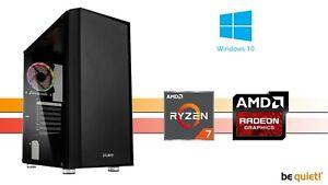 Aufrüst Gaming PC, Ryzen7 8x 4,3GHz, RX 5500XT 8GB, 16GB RAM, Windows, 4K
