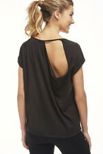 Fabletics Whitney Tee T Shirt Top Size XS 8 BNWT RRP £33.95 Black Uk Freepost