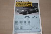 187381) Renault R 19 - Preise & Extras - Prospekt 11/1989
