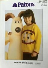Patons Wallace And Gromit Sweater Knitting Pattern PBN E2210