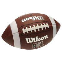 Wilson NFL Ball American Football Extreme Soft Grip Official TDS NEU White logo