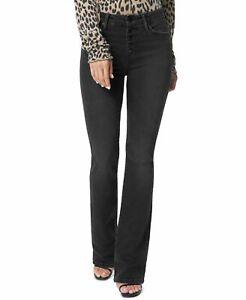 Joe's Women's Jeans Black Size 28X32 High Rise Curvy Bootcut Stretch $188 #437