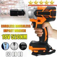 """18V 520N.M Cordless Brushless Torque Impact Wrench 1/2"""" Body For Makita Battery"""