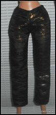 BOTTOM MATTEL BARBIE DOLL 1 MODERN CIRCLE BLACK & GOLD TROUSER PANTS  ACCESSORY