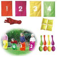 Kinder-Party-Set 22tlg Spieleset Sackhüpfen Eierlauf Wurfkissen Kindergeburtstag