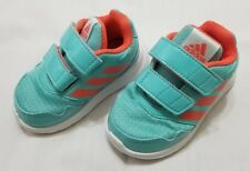 Infants Size 5K Turquoise Orange Adidas Altarun CF Running Shoes BA7431 preowned