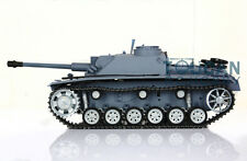 US Stock HengLong 1/16 German Stug III RC RTR Tank 3868 Metal Tracks Wheels